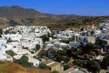 Greek Islands, TINOS, Pyrgos village and whitewashed houses, GIS584JPL