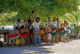 Grenadines, PALM ISLAND, Steel Band performing, GR13JPL
