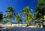 Grenadines, PALM ISLAND, beach and coconut trees, GR18JPL