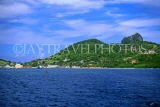 Grenadines, UNION ISLAND, view from sea, CAR100JPL