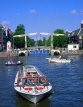 HOLLAND, Amsterdam, Amstel River and sightseeing boat, HOL502JPL