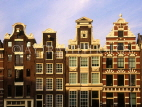 HOLLAND, Amsterdam, gabled architecture, HOL660JPL
