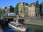 HOLLAND, Amsterdam, sightseeing boat city view, HOL515JPL