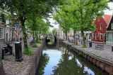 HOLLAND, Edam, old town and canal scene, HOL808JPL