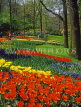 HOLLAND, Keukenhof Gardens and flowing red Tulips, HOL690JPL