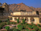 INDIA, Rajasthan, Jaipur, AMBER PALACE and Fort, fort and gardens, IND1096JPL