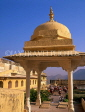 INDIA, Rajasthan, Jaipur, AMBER PALACE and Fort, palace buildings, courtyard, IND1206JPL