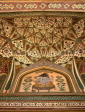 INDIA, Rajasthan, Jaipur, AMBER PALACE and Fort, palace ceiling decorations, IND150JPL