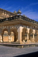 INDIA, Rajasthan, Jaipur, AMBER PALACE and Fort, palace courtyard, IND692JPL