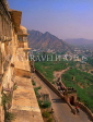 INDIA, Rajasthan, Jaipur, AMBER PALACE and Fort, view from fort, IND1197JPL