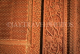 INDIA, Uttar Pradesh, Agra, FATEHPUR SIKRI, Royal Palace, Bas-relief work on walls, IND961JPL