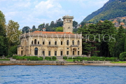 ITALY, Lombardy, LAKE COMO, lakeside scenery, and villas, ITL2319JPL