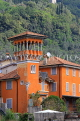 ITALY, Lombardy, LAKE COMO, lakeside scenery, colourful villa, ITL2324JPL