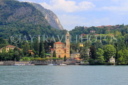 ITALY, Lombardy, LAKE COMO, lakeside scenery, villages and churches, ITL2312JPL