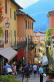 ITALY, Lombardy, Lake Como, BELLAGIO, narrow street, ITL2196JPL