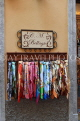 ITALY, Lombardy, Lake Como, BELLAGIO, shop diplay of scarves, ITL2195JPL 3000