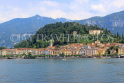 ITALY, Lombardy, Lake Como, BELLAGIO, village and resort, view from lake, ITL2183JPL