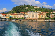 ITALY, Lombardy, Lake Como, BELLAGIO, village and resort, view from lake, ITL2201JPL