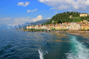 ITALY, Lombardy, Lake Como, BELLAGIO, village and resort, view from lake, ITL2204JPL