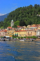 ITALY, Lombardy, Lake Como, BELLAGIO, village and resort, view from lake, ITL2206JPL