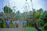 Indonesia, BALI, traditional village, street decorated for festival, BAL830JPL