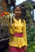 Indonesia, BALI, village girl with flower offerings (at temple), BAL763JPL