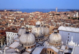 Italy, VENICE, St Mark's Basilica (San Marco) domes and city view, ITL1673JPL