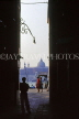 Italy, VENICE, St Mark's Sq, waterfront view through narrow passage, ITL1793JPL