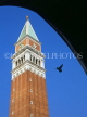 Italy, VENICE, St Mark's Square, The Campanile (Bell Tower), view through arch, ITL741JPL