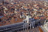 Italy, VENICE, St Mark's Square, Torre dell'Orologio (clock tower) and roof tops, ITL1859JPL