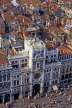 Italy, VENICE, St Mark's Square, Torre dell'Orologio (clock tower) and roof tops, ITL725JPL
