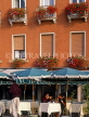Italy, VENICE, St Mark's Square, outdoor cafe scene, ITL1784JPL