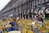Italy, VENICE, St Mark's Square, outdoor cafe scene, tables and chairs, ITL1884JPL