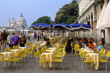 Italy, VENICE, St Mark's Square, outdoor cafe scene, with tables and chairs, ITL1913JPL