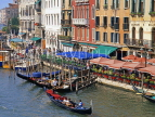 Italy, VENICE, The Grand Canal, buildings and gondolas, ITL1910JPL