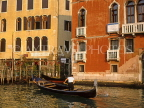 Italy, VENICE, Venetian architecture, along the Grand Canal and gondola, ITL727JPL