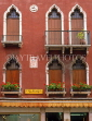 Italy, VENICE, Venetian architecture, windows with window boxes, ITL761JPL