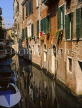 Italy, VENICE, narrow canal and houses, ITL766JPL