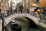 Italy, VENICE, small bridge over canal, ITL1684JPL