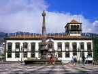 MADEIRA, Funchal, Town Hall Square and Town Hall (Camera Municipal), MAD1040JPL