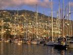 MADEIRA, Funchal, evening light over town and marina, MAD153JPL