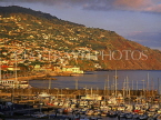 MADEIRA, Funchal, evening light over town and marina, MAD245JPL