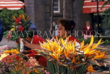 MADEIRA, Funchal, flower stall, with Bird of Paradise flowers, MAD137JPL