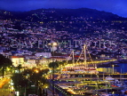 MADEIRA, Funchal, night view over town and harbour, MAD169JPL