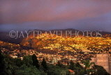 MADEIRA, Funchal, sunset lighting up town and hills, MAD1096JPL