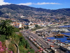MADEIRA, Funchal, town and marina view, MAD182JPL