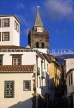 MADEIRA, Funchal, town centre and Cathedral (Se) tower, MAD205JPL