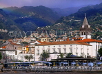 MADEIRA, Funchal, town centre and Se Cathedral, clock tower, MAD1026JPL