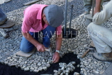 MADEIRA, Funchal, workmen Mosaic paving, town pavements, MAD1092JPL
