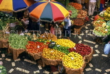 MADEIRA, Funchal Market, fruit and vegetable stalls, MAD1048JPL